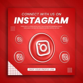 3d render instagram business promotion for a social media post design