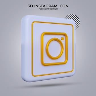 3d визуализация значок instagram изолированы