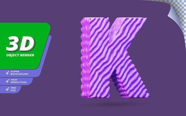 추상 지형 질감 디자인 일러스트와 함께 3d 렌더링 격리 된 알파벳 문자