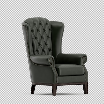 3d render of isometric armchair