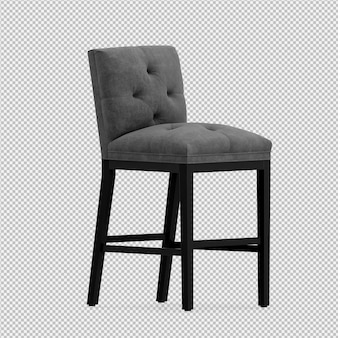 3d render of isometric chair