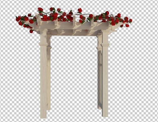 3d 렌더링 아이비 식물 화이트 절연