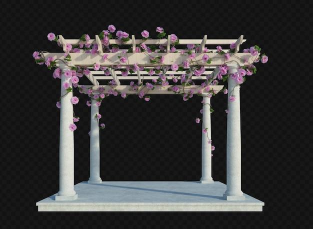 3d 렌더링 아이비 식물 절연