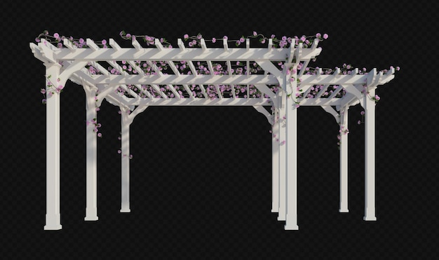 3d render ivy plants isolated