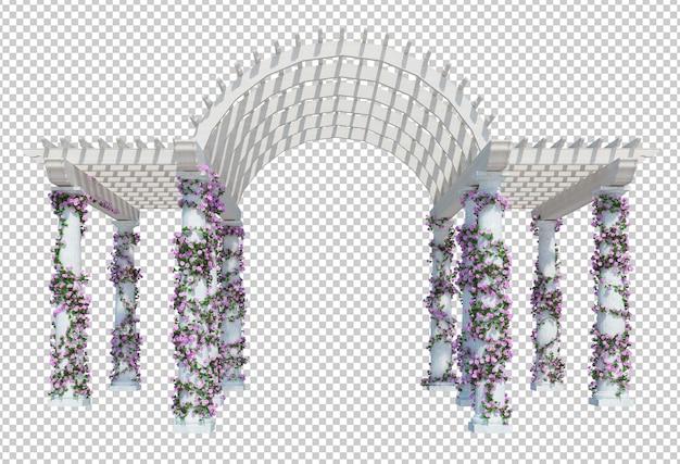 3d визуализация растений плюща изолированные
