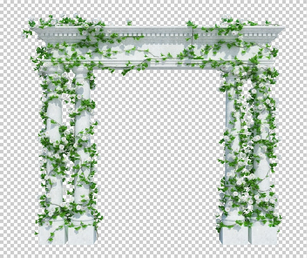 分離された3dレンダリングアイビー植物