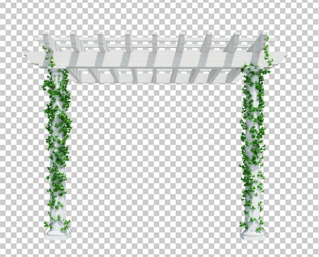 分離された3dレンダリングツタ植物