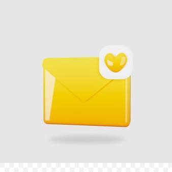 3d визуализация почты изолированы