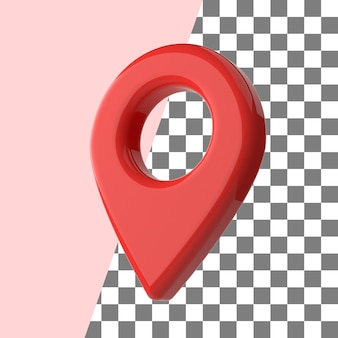 3d визуализация карта контактный точка красная глянцевая текстура