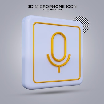 3d render megaphone icon isolated