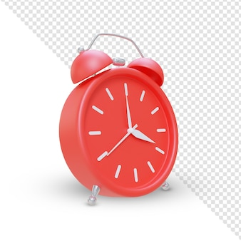3d render minimalist alarm clock scene creator