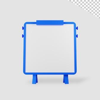 3d визуализация минималистская доска изолированные