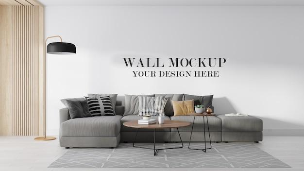 3d визуализация современного макета стены комнаты