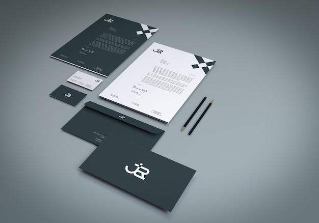 3d 렌더링 현대 문구 모형