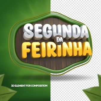 3d render monday of the vegetable composition for supermarket in brazil 3d render portuguese