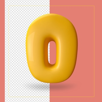 3d визуализация буквы o алфавита