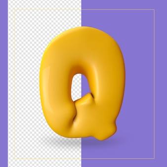 알파벳 문자의 3d 렌더링