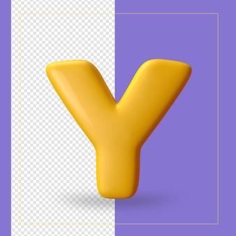 3d визуализация буквы алфавита Premium Psd