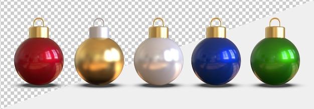 3d визуализация елочные шары изолированы