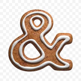 クリスマスジンジャーブレッドクッキーアンパサンドの3dレンダリングが分離されました