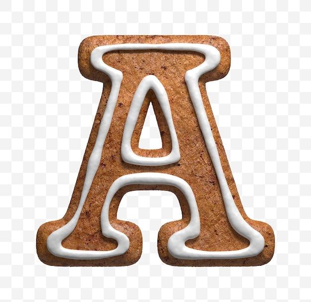 分離されたクリスマスジンジャーブレッドクッキー文字の3dレンダリング