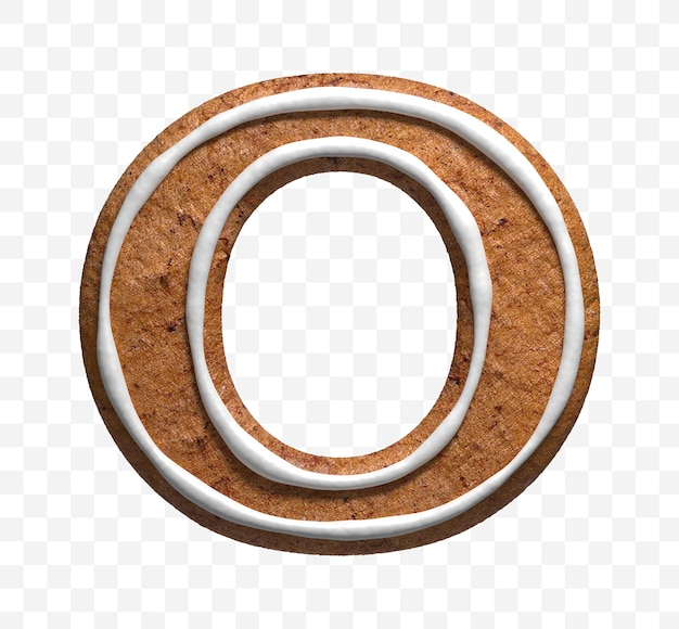 クリスマスのジンジャーブレッドのクッキーの手紙の3dレンダリングo分離