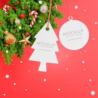 3d-рендеринг рождественского венка с концепцией счастливого рождества для отображения вашего продукта