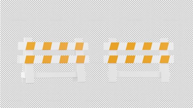 分離された建設記号の 3 d レンダリング