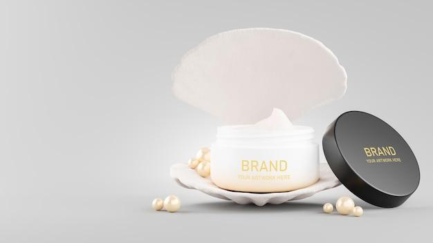3d визуализация дизайна макета косметического крема