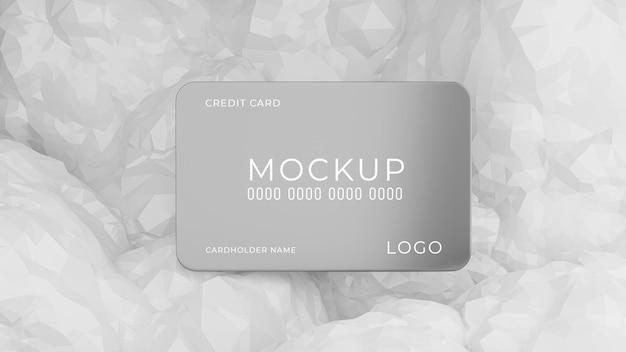 製品表示用の抽象的な背景を持つクレジット カードの 3 d レンダリング