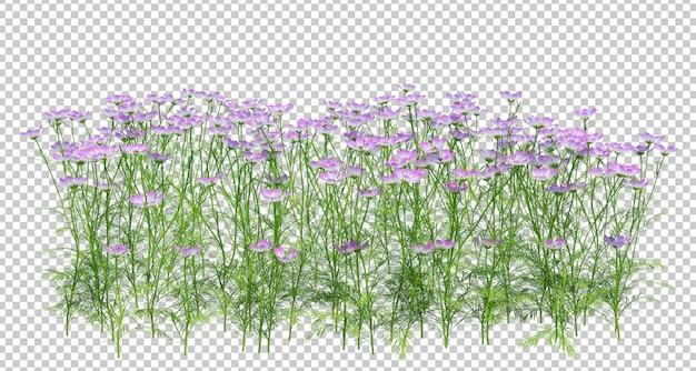 葉と花の3 dレンダリング