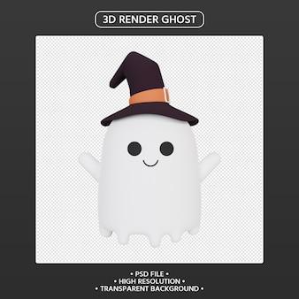3d визуализация призрак мультипликационного персонажа