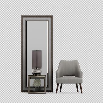 3d представляют изометрического стула