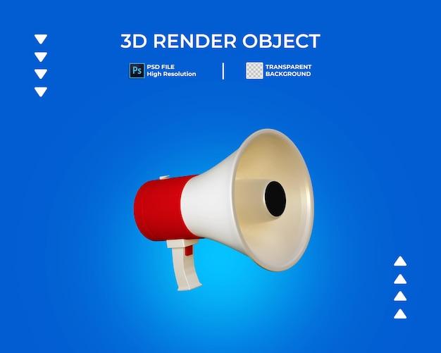 확성기의 3d 렌더링