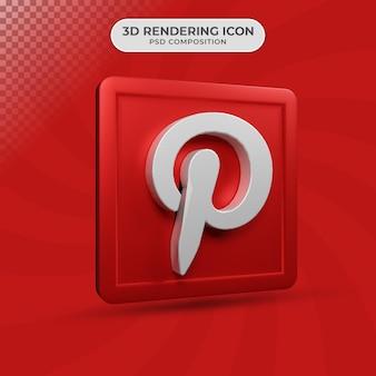 3d визуализация дизайна иконок pinterest