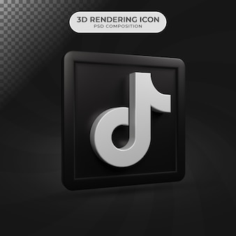 3d визуализация дизайна иконок tiktok в социальных сетях