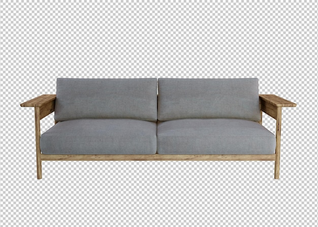 소파의 3d 렌더링