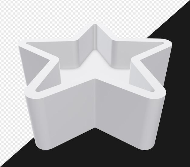 3d визуализация звезды для стенда или платформы изолированы