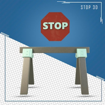 3d визуализация дороги знак остановки