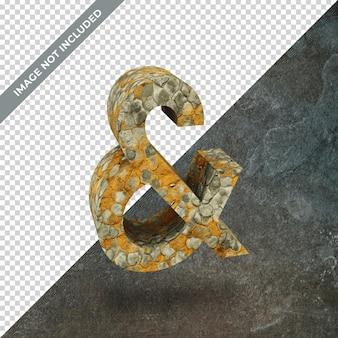 의 상징과 격리 된 배경의 3d 렌더링