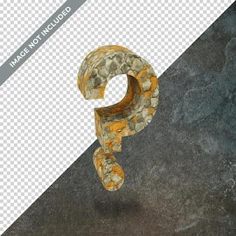 격리 된 배경으로 물음표의 상징의 3d 렌더링