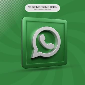 3d визуализация дизайна иконок whatsapp