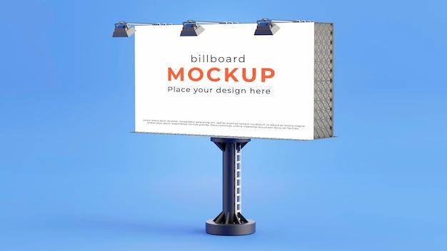3d визуализация макета белого рекламного щита