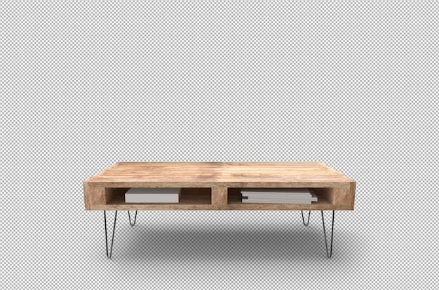 分離された木製パレットテーブルの3dレンダリング