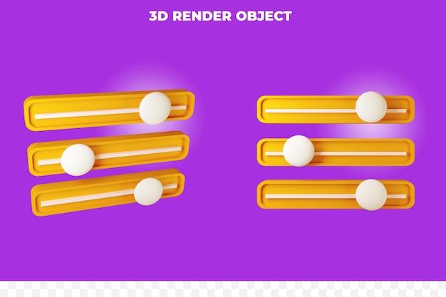3d render option filter