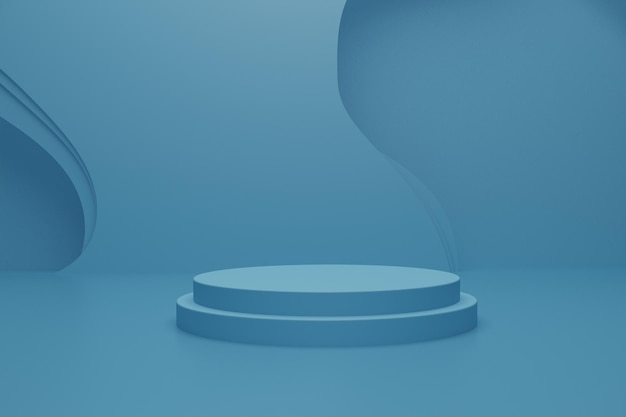 3d render podium scene on the floor for product