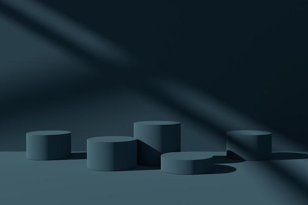 3d визуализация подиума сценический фон