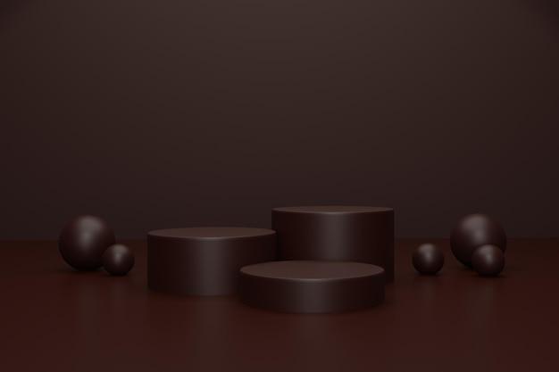 제품 스탠드에 대한 3d 렌더링 연단 무대