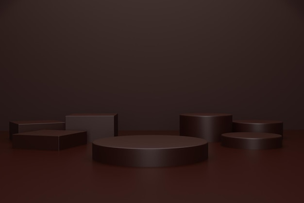3d render podium stage for product advertisement