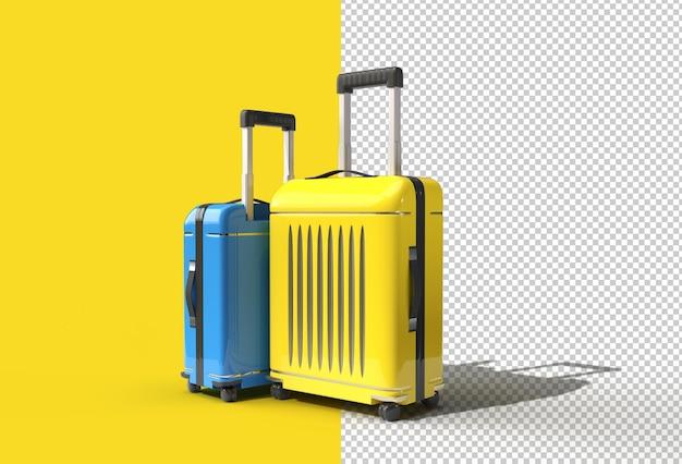파스텔에 3d 렌더링 폴리카보네이트 가방.